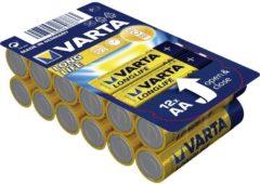 AA batterij (penlite) Varta Longlife LR06 Alkaline (Alkali-mangaan) 1.5 V 12 stuks
