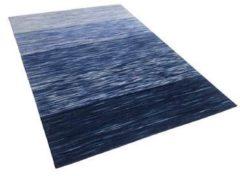 Beliani Tapijt blauw 140x200 cm laagpolig KAPAKLI