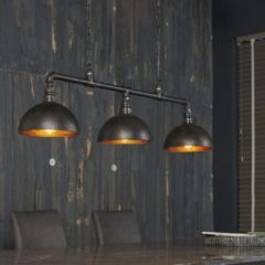 Zwarte Zaloni Hanglamp Industrial Tube 3L met Kap