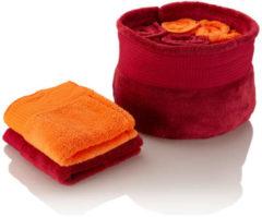 Bagnola Gästehandtuchset Quick Dry, 8tlg. & Korb