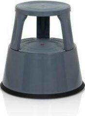 Hjh OFFICE Tio-M II - Werkstoel / werkkruk/ verhoogde bureaustoel - Donkergrijs - Metaal, Kunststof
