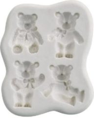 Witte Städter Siliconen mal 4x teddybeer Dekoflex