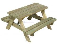 Beige Merkloos / Sans marque SenS-Line - Kindertafel Naturel - Picknicktafel Voor buiten - FSC 100 % Grenenhout - L 90 x B 90 x H 55 cm