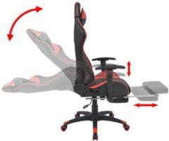 VidaXL Bureau-/gamestoel verstelbaar met voetensteun Xtreme rood