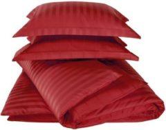 Rode De Witte Lietaer Zygo – dekbedovertrek - éénpersoons dekbedovertrek 140x220 cm & één kussensloop 60x70 cm - chili pepper