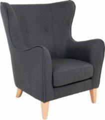 Hioshop Campo fauteuil donkergrijs.