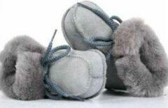Bernardino® - Baby slofjes - Grijs - Unisex - Maat 19