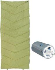 10-T Outdoor Equipment 10T Schlafsack SETH -7° warm weich 1200g leicht Deckenschlafsack XL 200x80 Grün / Grau