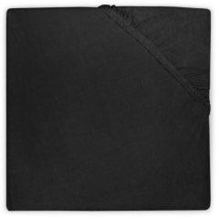 Zwarte Jollein - Ledikant Hoeslaken Jersey - 60x120 cm - Zwart
