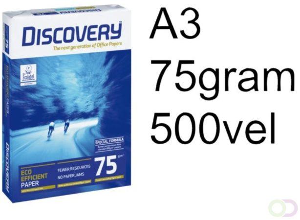 Afbeelding van Kopieerpapier Discovery A3 75gr wit 500vel