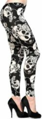 Banned Leggings -4XL- These stylish Halloween Zwart/Wit