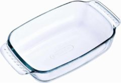 Transparante PYREX Rechthoekige glazen ovenschaal 0,7 liter 22 x 13 x 5 cm - Ovenschotel schalen - Bakvorm