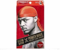 Rode RED BY KISS BOW WOW POWER WAVE VELVET LUXE DURAG RED