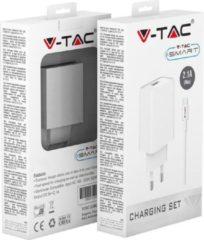 V-tac VT-5371 Oplader Samsung met Micro USB kabel - 2.1 Ampere - Wit