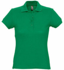 Groene Polo Shirt Korte Mouw Sols PASSION WOMEN COLORS