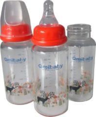Rode Babyflessen - babyfles 150 ML - fles - baby - standaard fles - fles voor pasgeboren - Qmibaby