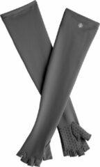 Coolibar - UV vingerloze handschoenen met lange mouw voor volwassenen - Perpetua - Houtskool - maat S (16,5-18,5cm)