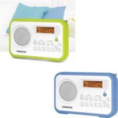 Sangean PR-D18 UKW-Radio, tragbares Radio, grün oder blau Farbe: blau