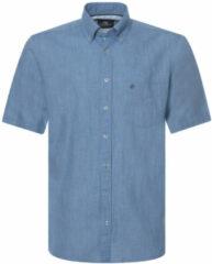 Lichtblauwe Campbell Casual overhemd met korte mouwen licht blauw