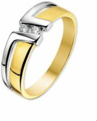Kasius Trendjuwelier huiscollectie 4205695 Bicolor gouden zirkonia ring