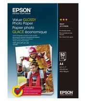 Epson Value - Glanzend - A4 (210 x 297 mm) - 183 g/m� - 50 vel(len) fotopapier - voor Epson L382, L386, L486; Expression Home HD XP-15000; Expression Premium XP-900