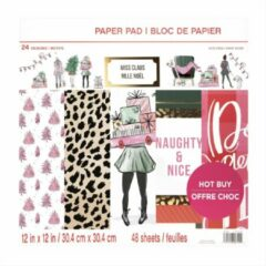 Craft Smith: Miss Claus 12x12 Inch Paper Pad (MSE4854)