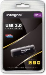 Zwarte Integral Noir USB 3.0 32 GB 32GB USB 3.0 (3.1 Gen 1) USB-Type-A-aansluiting Zwart USB flash drive