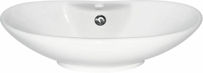 Afbeelding van Witte Kerra KR 139 opbouw waskom 58x38,5cm met kraangat