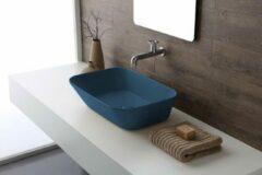 By Goof Mees - Design Opbouw Waskom Rechthoek 60x42x16.5 cm - Mat Blauw