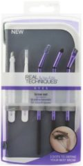 Real Techniques Original Collection Eyes Brow Set Angled Tweazer + Detailing Tweezer + Panoramic Case + Brow Spoolie + Arch Definer + Brow Brush 1 Stk