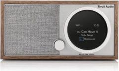 Bruine Tivoli Audio Model One Digital Generatie 2 Smart Radio - Walnoot