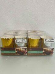 Cakevormpjes in goud en zilver (La Cucina) - set van 6 keer 20 stuks