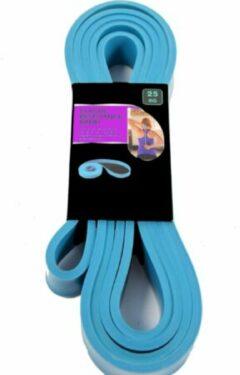 Lichtblauwe Discountershop Elastische weerstandsband 25 KG