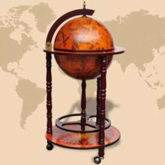 Bruine VidaXL - Dressoir Globebar Columbus 47 cm 60774