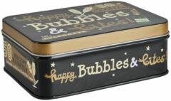 Zwarte Xenos Bubbles & Bites in blik - 50 recept kaarten