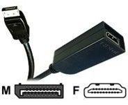 Jou Jye Computer Jou Jye AVC 124 - Videoanschluß - DisplayPort / HDMI - DisplayPort (M) AVC 124-0,2M