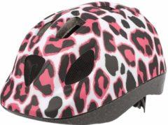 Roze Polisport Pinky Cheetah fietshelm kind - Maat XS (46-52cm) - Pinky
