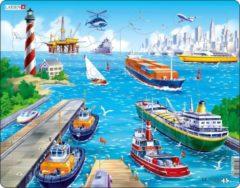 Larsen legpuzzel Maxi de haven 35 stukjes
