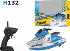 Blauwe Skytec Rc jetski speelgoed boot H132 - oplaadbaar - 2.4GHZ zender 50meter- 10km/h - 1:47