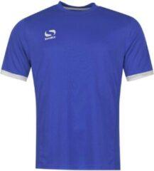 Blauwe Sondico Voetbalshirt korte mouw - Heren - Royal/White - XL