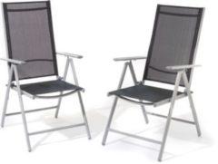 Giardino AY 455 Aluminium-Stuhl 7-fach verstellbar, 2er Set