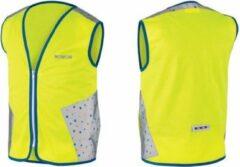 Gele WOWOW Terrazo jacket - veiligheidshesje kind - EN 1150 certificaat - Small