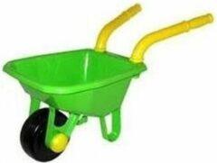 Merkloos / Sans marque Speelgoed kruiwagen groen voor kinderen 25 x 66 cm - jongens en meisjes - buitenspeelgoed