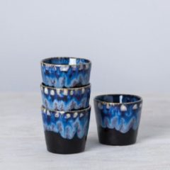 Costa Nova Grespresso lungo kopje zwart met 'drip glazing', set van 2 stuks