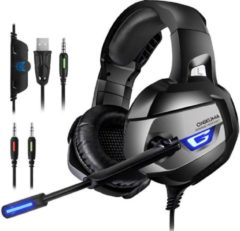 Zwarte ONIKUMA K5 - Gaming headset - Grijs - PS4 + PC + Xbox One