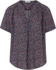 Shirt met korte mouwen en millefleursprint Van Peter Hahn multicolour