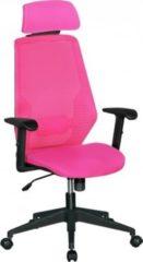 AMSTYLE NetStar Bürostuhl Stoff-Sitzfläche in pink Schreibtischstuhl mit Rückenlehne Drehstuhl höhenverstellbar