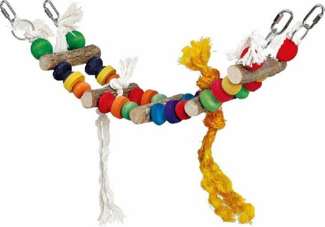 Afbeelding van Homestyle Vogelspeelgoed London Bridge Multi-Color - Vogelspeelgoed - 11x13x44 cm