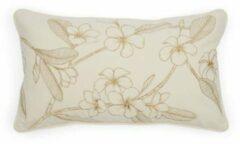 Beige Riviera Maison Enchanting Flower Pillow Cover
