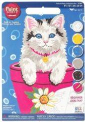 Blauwe Dimensions Kitten in een bloempot Schilderen op nummer